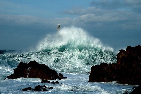 Tempête au phare de Goury